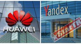 Huawei internet tarayıcısında ve ana ekranda yer alan arama çubuğunda varsayılan arama motoru Yandex olarak geliyor